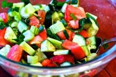 celery tomato cucumber